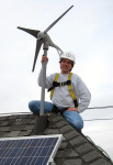 Charles installing wind turbines